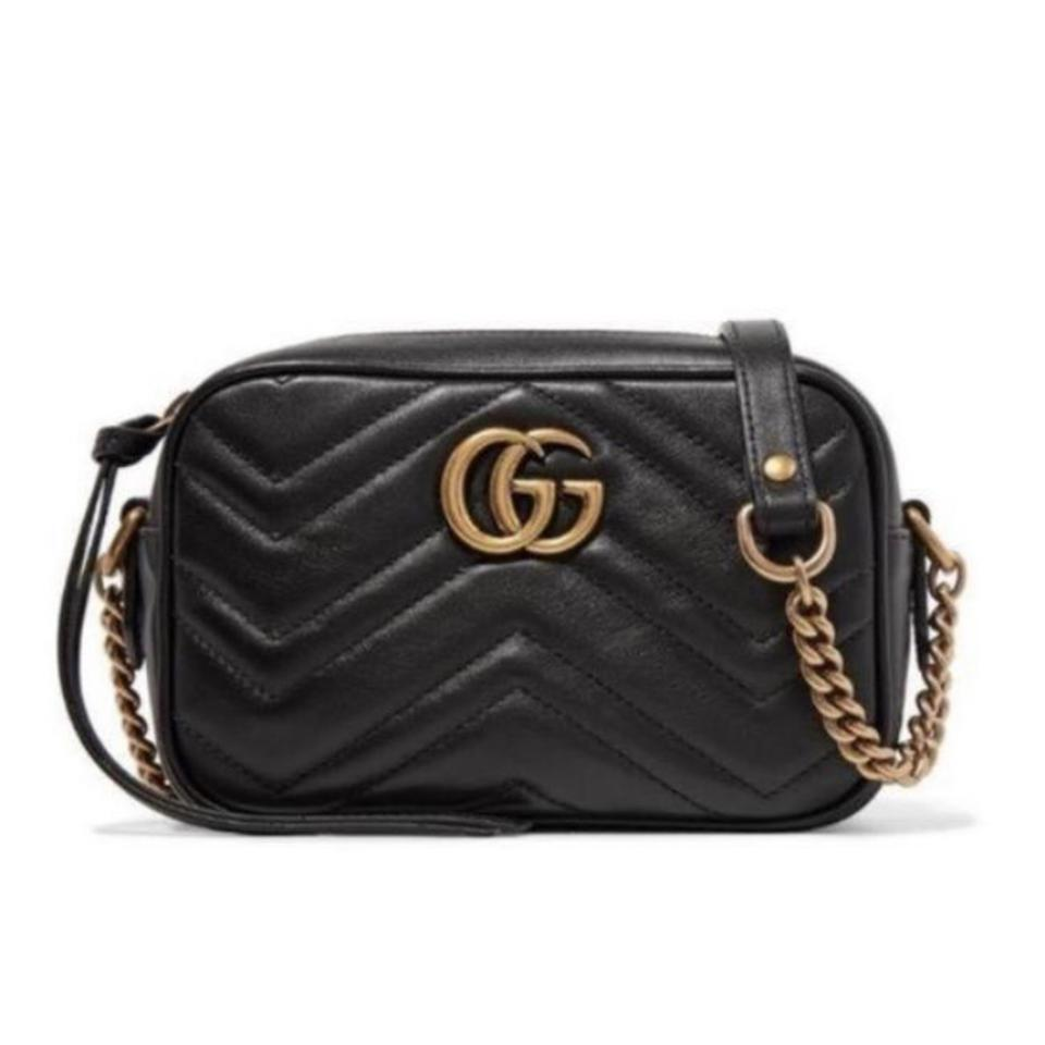 742bcfb0f1dd4c Gucci Marmont Mini Quilted Leather Cross Body Bag - Tradesy