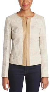 Tory Burch Fall New Fall Winter New Cream natural Leather Jacket