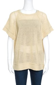 Brunello Cucinelli Perforated Knit Top Beige