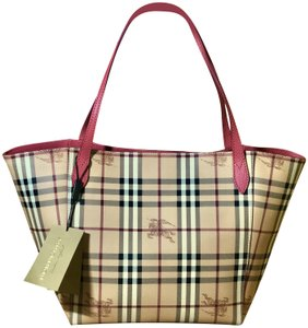 Burberry Tote in Plum Pink