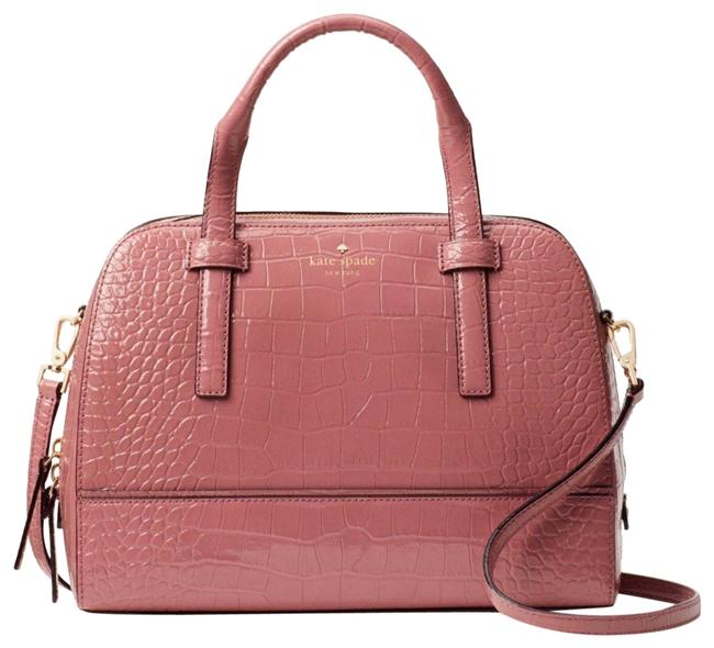 Kate Spade Crossbody New Croc Satchel Pink Leather Tote Kate Spade Crossbody New Croc Satchel Pink Leather Tote Image 1