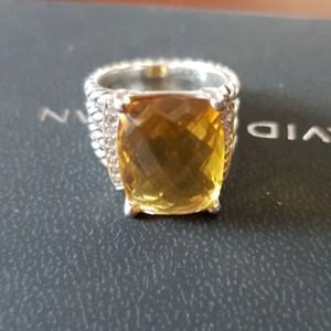 David Yurman David Yurman Wheaton Citrine Diamond Ring