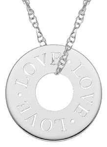 Apples of Gold LOVE CIRCLE NECKLACE IN WHITE GOLD