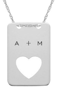 Apples of Gold CUT-OUT HEART DOGTAG NECKLACE IN STERLING SILVER WITH INITIALS