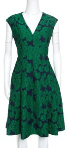 Carolina Herrera short dress Green Fitted Sleeveless on Tradesy