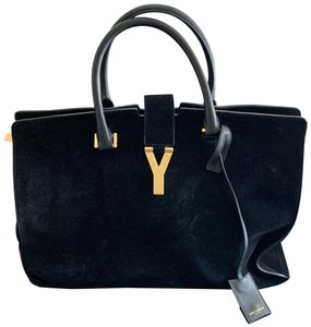 9586adf1ee2b8 Saint Laurent Muse Two Ysl Cabas Tote Black and White Leather + ...