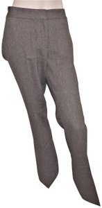 Kenneth Cole Trousers Wool Tweed Wide Leg Pants BROWN