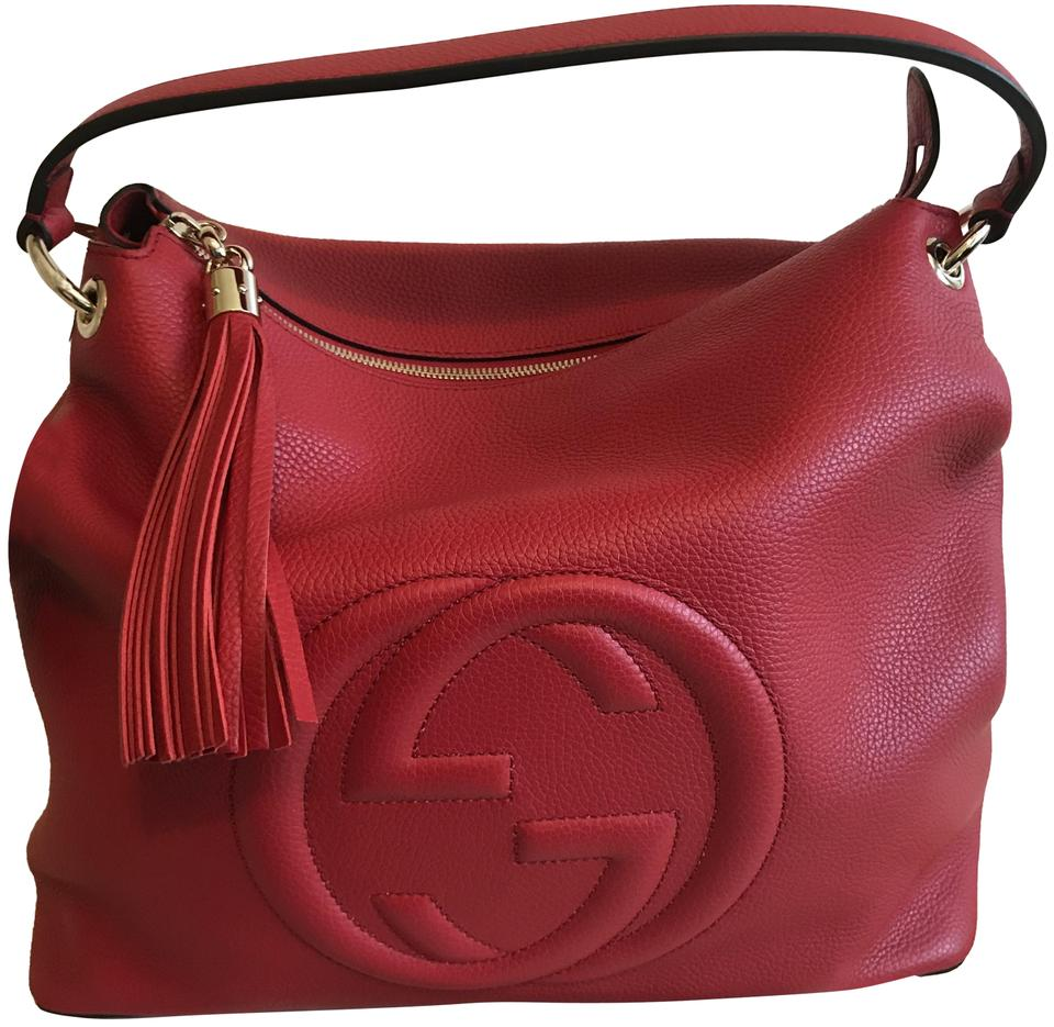 c664a9c2dfc Gucci Soho Two Way Convertible Red Leather Hobo Bag - Tradesy