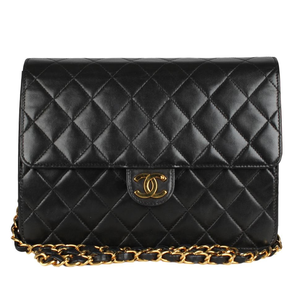 3d29fadeb71168 Chanel Flap Front Cc Turn Lock Gold Hardware Lambskin Classic Shoulder Bag  Image 0 ...