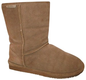 Bearpaw Suede Leather Sheepskin 001 brown Boots