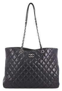 bb3b97963903d2 Chanel Shopping Tote Classic Cc Quilted Caviar Large Black Leather Tote