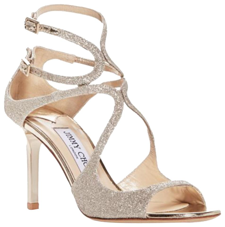 616bd7bd02 Jimmy Choo Champagne Ivette Sandal Formal Shoes Size EU 39 (Approx ...