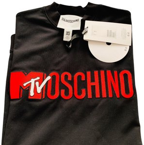 MOSCHINO [tv] H&M short dress black on Tradesy