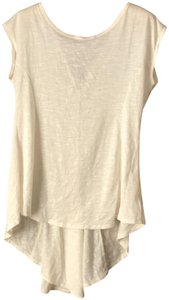 Jessica Simpson Capped Sleeve High-low Hemline Rounded Neckline Deep V Back Flared Styling Tunic