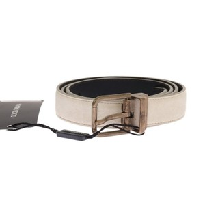 Dolce&Gabbana White / Gold D11024-1 Leather Buckle Belt (100 Cm / 40 Inches) Groomsman Gift