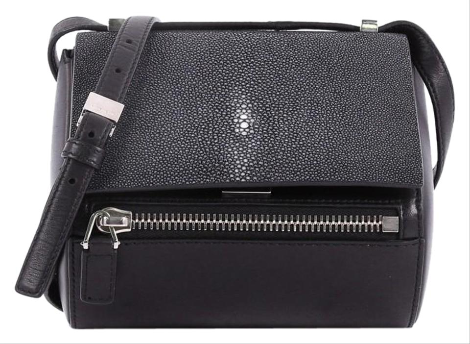 Givenchy Chain Pandora Box Handbag Stingray Mini Black Leather Shoulder Bag 62d5c937c51ac