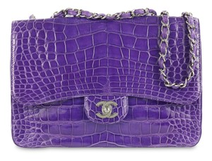 Chanel Violet Alligator Shoulder Bag