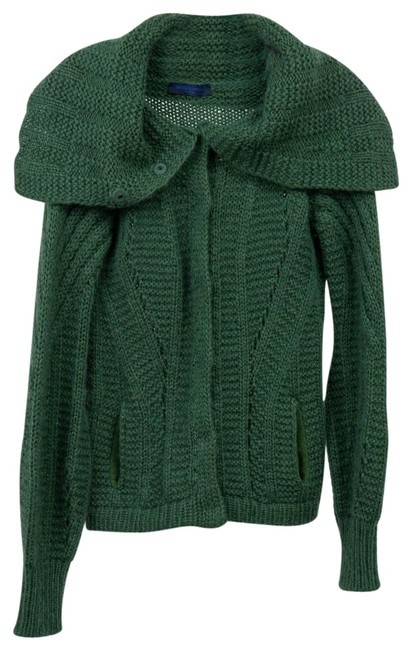 Item - Casual Cozy Button Down Knit Green Sweater