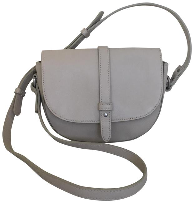 Item - Beige Taupe Leather Cross Body Bag