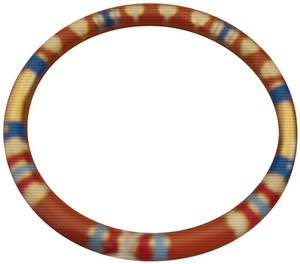 Tory Burch NWT Tory Burch Geo Striped Red Volcano/Tory Gold Bangle One Size