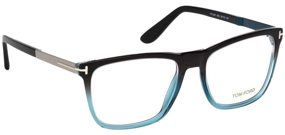 1a68e2505a1 Tom Ford Black Blue Two-tone Ft5351 Square Optical Sunglasses - Tradesy