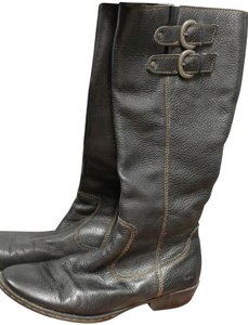 B.O.C. Black leather with brown stitching Boots