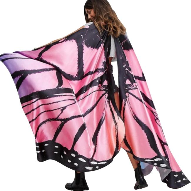 Club L Multicolor Festival Butterfly Wings Poncho/Cape Size OS (one size) Club L Multicolor Festival Butterfly Wings Poncho/Cape Size OS (one size) Image 1