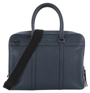 Burberry Briefcase Leather Tote in blue