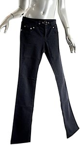Versace Cotton Belted Front Straight Leg Jeans