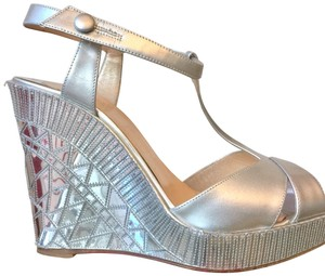 Christian Louboutin silver Wedges