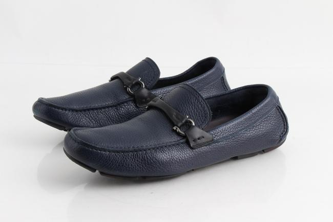Item - Blue Men's Granprix Textured Leather Drivers Shoes