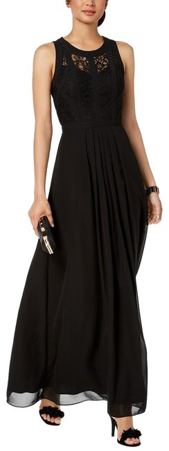 Item - Black By Caged Lace Gown 12p Long Formal Dress Size Petite 12 (L)