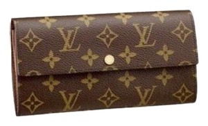 Louis Vuitton Classic Monogram Canvas Long Sarah Wallet