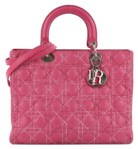 Dior Handbag Leather Tote in pink