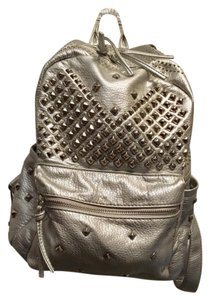 Collection Eighteen Faux Leather Studded Metallic Hardware Chic Backpack