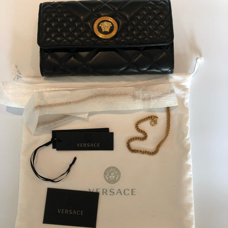 Versace Ships Next Day Quilted Medusa Evening Black Leather Shoulder Bag -  Tradesy f39d8b115930e