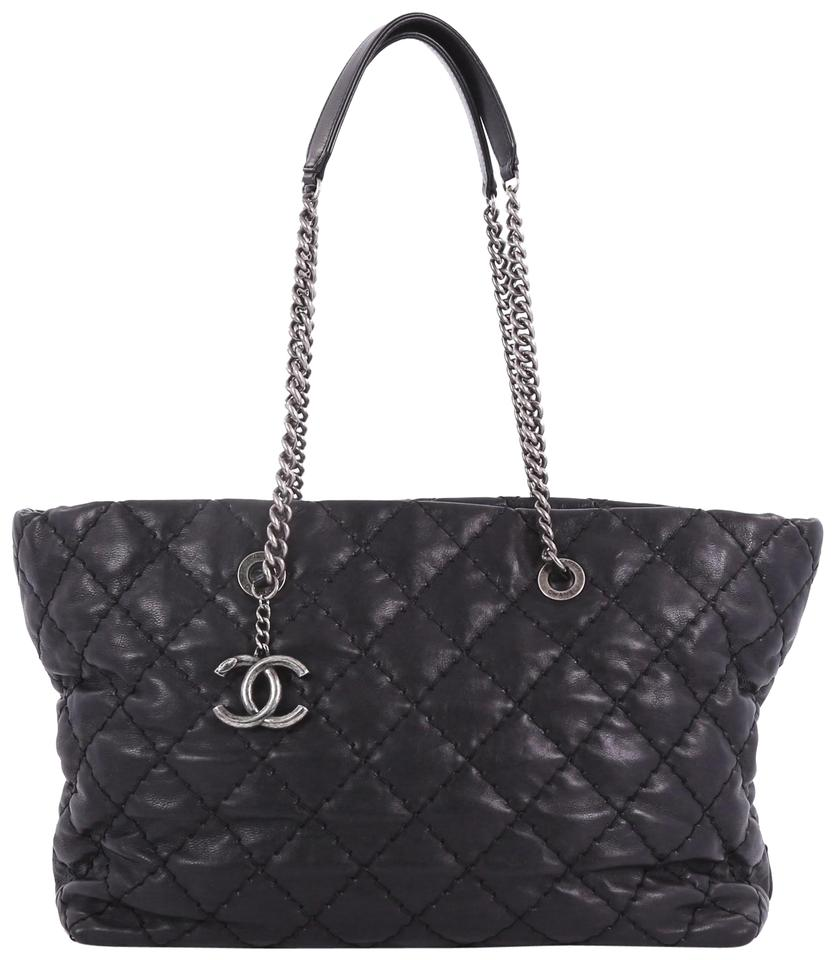 aa01ff1349ae Chanel Ultimate Stitch Aged Chain Quilted Calfskin Large Black ...