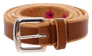 Dolce&Gabbana D10773-1 Women's Brown Leather Logo Belt (90 cm / 36 Inches)