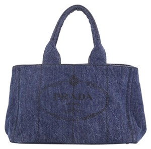 Prada Denim Satchel in blue
