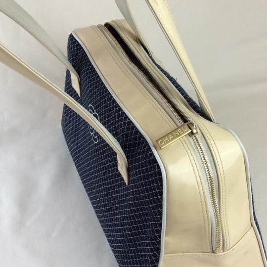 Chanel Tote in BLUE WHITE Image 7