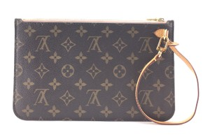 Louis Vuitton RARE Monogram with Rose Ballerine Interior Lining Clutch