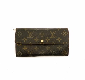 Louis Vuitton Sarah Monogram Canvas Leather Long Clutch Wallet