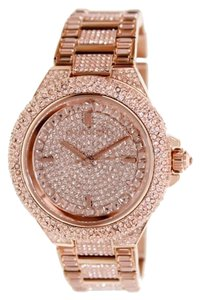Michael Kors MICHAEL KORS Camille Rose Dial Rose Gold-tone Crystal Ladies Watch