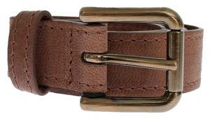 Dolce&Gabbana D25277-2 Women's Brown Leather Belt (80 cm / 32 Inches)
