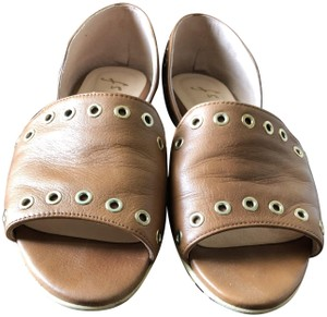 French Sole Camel Flats