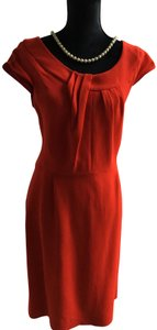 Kate Spade All Occasion Frt Gathered Design Hem Finishing Open Back Flap Classic Style Dress