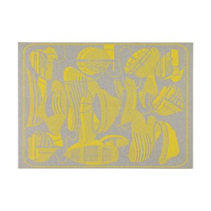 Hermès Hermes Blanket Thalassa Jacquard Merino Grey and Yellow new