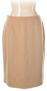 Escada Rabbit Hair Pencil Wool Tan Natural Skirt beige