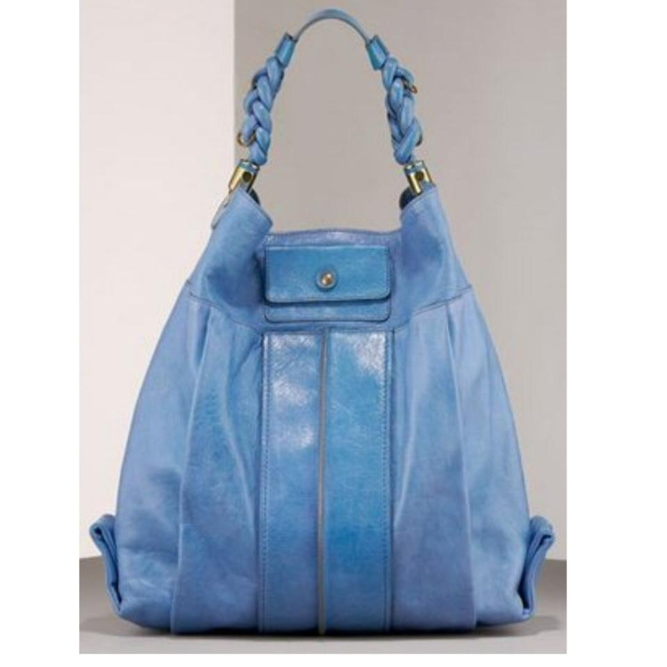 Chloé Heloise Large Blue Leather Hobo Bag - Tradesy 546bc6e067acd