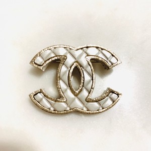 Chanel Silver and Gold Brooch/Pin